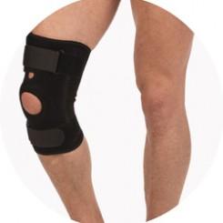 Бандаж на колено с ребрами жесткости из неопрена