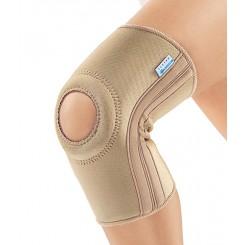 Согревающий бандаж на коленный сустав с пателлярным кольцом и ребрами жесткости