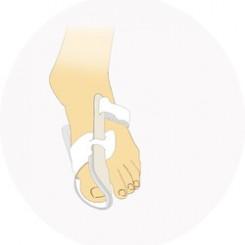 Бандаж, корригирующий на первый палец стопы, ночной