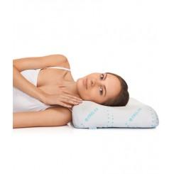 Ортопедическая подушка с эффектом памяти под голову (для сна на боку и на спине)