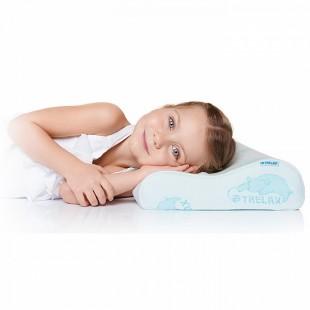 Детская ортопедическая подушка с 3 лет с эффектом памяти TRELAX