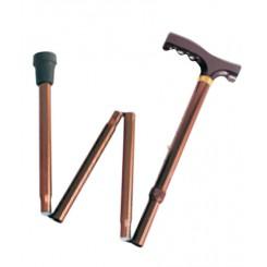 Трость опорная складная, с деревянной ручкой